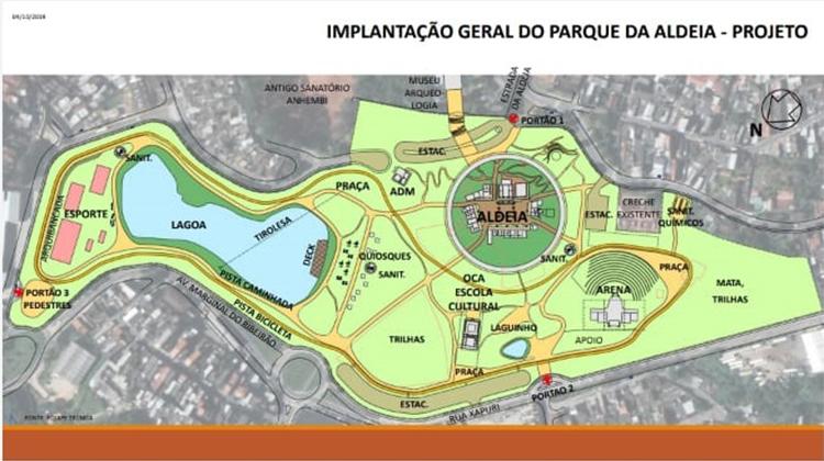 Planta do Parque Quintal da Aldeia